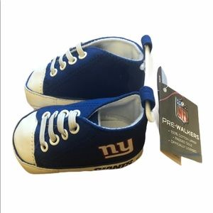 NFL New York Giants Crib Shoes Baby 0-6 Months NEW
